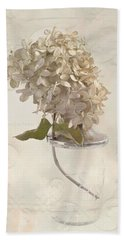 Hand Towel featuring the photograph Hydrangea Softness by Sandra Foster