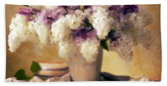 Hydrangea Summer Display Bath Towel