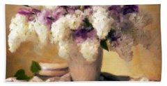 Hydrangea Summer Display Hand Towel