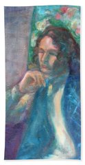 I Am Heathcliff - Original Painting  Hand Towel