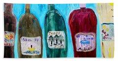 I Choose Wine By The Label Bath Towel