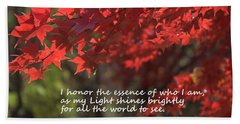 I Honor The Essence Of Who I Am Bath Towel by Patrice Zinck