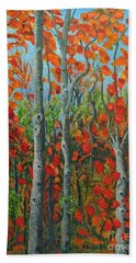 I Love Fall Hand Towel by Holly Carmichael
