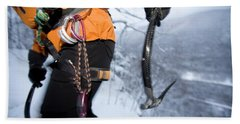 Ice Climbing, New Hampshire Hand Towel