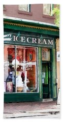 Alexandria Va - Ice Cream Parlor Bath Towel