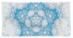 Bath Towel featuring the digital art Ice Crystals by GJ Blackman
