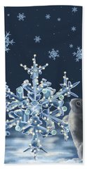 Ice Crystals Hand Towel