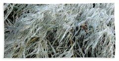 Ice On Bamboo Leaves Bath Towel by Daniel Reed