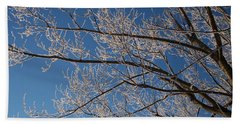 Ice Storm Branches Bath Towel