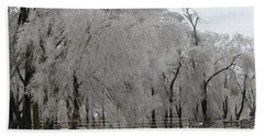 Ice Trees Bath Towel