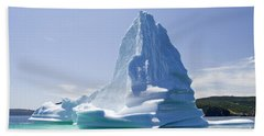Bath Towel featuring the photograph Iceberg Canada by Liz Leyden