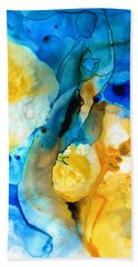 Iced Lemon Drop - Abstract Art By Sharon Cummings Hand Towel