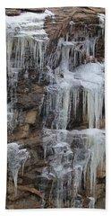 Icicle Cliffs Bath Towel
