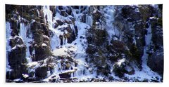 Hand Towel featuring the photograph Icicle House by Barbara Griffin