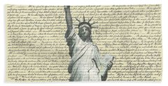 Icon Of Freedom Hand Towel by Charles Beeler