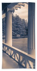 Iconic Columns On An Estate Hand Towel