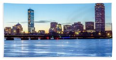 Icy Boston At Dawn Bath Towel by Mike Ste Marie