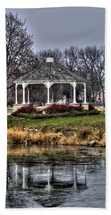 Bath Towel featuring the photograph Icy Reflection by Deborah Klubertanz