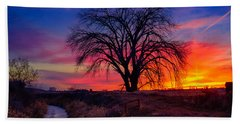 Idaho Winter Sunset Bath Towel by Greg Norrell