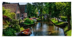 Bath Towel featuring the photograph Idyllic Village 15. Venice Of The North by Jenny Rainbow