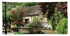 Idyllic Village Scene Bath Towel
