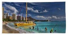 Idyllic Waikiki Beach Bath Towel