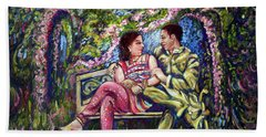 Hand Towel featuring the painting If I Will Get Your Love by Harsh Malik