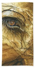 Hand Towel featuring the painting If You Could See What I've Seen... by Barbara Jewell