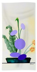 Ikebana #2 Green Pot Hand Towel