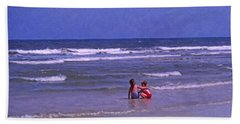 Bath Towel featuring the painting I'll Watch Over You by Kenny Francis