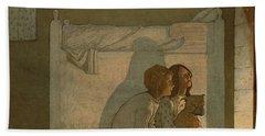 Illustration To Maeterlinck's The Bluebird Bath Towel