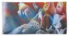 Bath Towel featuring the painting Imagination 1 by Vesna Martinjak