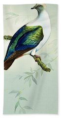 Imperial Fruit Pigeon Hand Towel by Bert Illoss