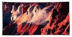Impression Of Capitol Reef Utah At Sunset Hand Towel