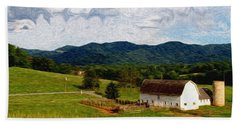 Hand Towel featuring the painting Impressionist Farming by John Haldane