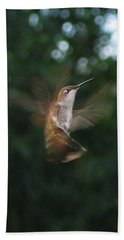 Bath Towel featuring the photograph In Flight by Photographic Arts And Design Studio