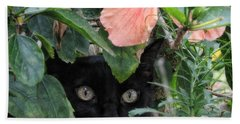 Bath Towel featuring the photograph In His Jungle by Peggy Hughes