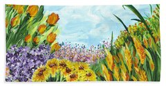 In My Garden Hand Towel by Holly Carmichael