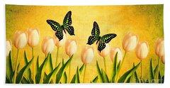 In The Butterfly Garden Bath Towel