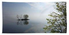 In The Distance On Mille Lacs Lake In Garrison Minnesota Bath Towel