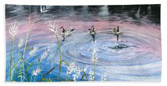 Bath Towel featuring the painting In The Dusk by Melly Terpening