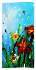 In The Garden Bath Towel by Kume Bryant