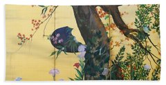 In The Garden Hand Towel by Sorin Apostolescu