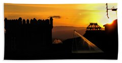 In The Land Of The Sunset Spires Bath Towel