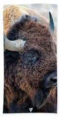In The Presence Of  Bison - Yes Paint Him Bath Towel
