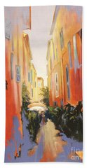 In Town Of Saint Tropez Bath Towel