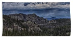 Incoming Storm Over The Black Hills Of South Dakota Hand Towel