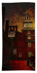 Independence Hall Philadelphia Let Freedom Ring Hand Towel by Jeff Burgess