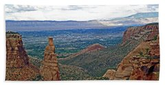Independence Monument In Colorado National Monument Near Grand Junction-colorado Hand Towel