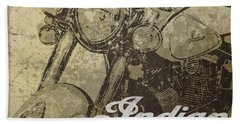 Indian Motorcycle Poster Bath Towel